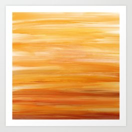 Abstract Sunset - Yellow, Orange and Gold Sky Painting Art Print