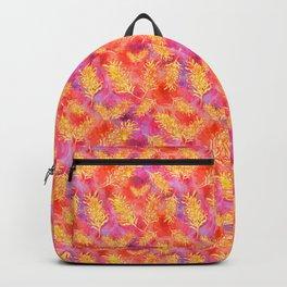 Australian Native Floral Print - Grevillea Flowers Backpack