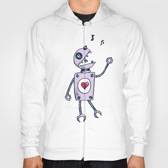 Happy Cartoon Singing Robot Hoody