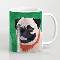 pug Mugs featuring Pug by Nir P