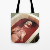 evil Tote Bags featuring Evil by Thanya Castrillón