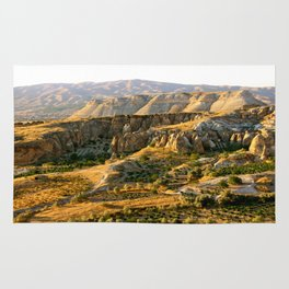 Mountains in the Red Valley of Cappadocia, Turkey Rug