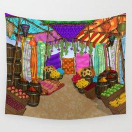 At The Bazaar Wall Tapestry