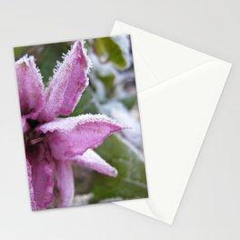Frozen flower Stationery Cards
