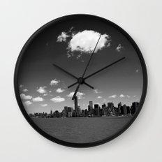 NYC Skyline B&W Wall Clock