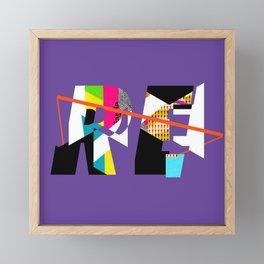 Reinterpretation (collage) Framed Mini Art Print