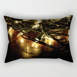 white lights - christmas Rectangular Pillow