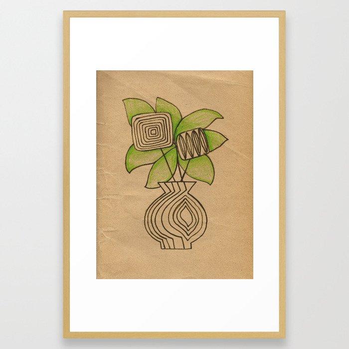 Vase with flowers Framed Art Print