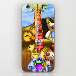Fusion Keyblade Guitar #23 - Metal Chocobo & Mogry of Glory iPhone Skin