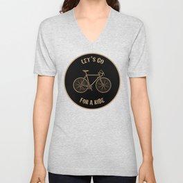 Let's Go For A Ride Unisex V-Neck