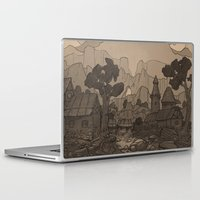 skyrim Laptop & iPad Skins featuring Resdayn by Hieronymus7Z