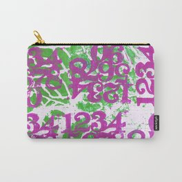 Magenta Numbers Carry-All Pouch