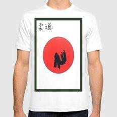 Art Of Judo Print Mens Fitted Tee MEDIUM White