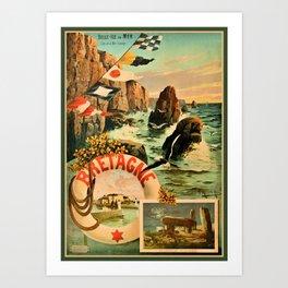 Bretagne Brittany Hugo d'Alesi 1895 French travel Art Print