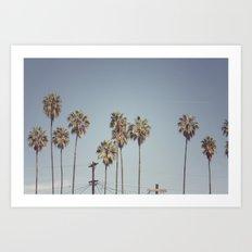 Lines + Lines + Lines   Highland Park, Los Angeles Art Print