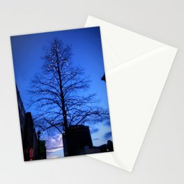 Downtown Christmas Tree Stationery Cards