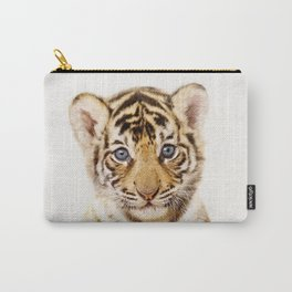 Baby Tiger, Baby Animals Art Print By Synplus Carry-All Pouch