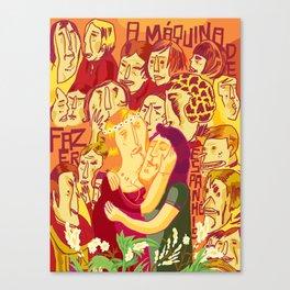 A Máquina de Fazer Espanhóis Canvas Print