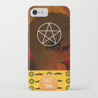 dean winchester iPhone & iPod Cases featuring dean winchester by Papa-Paparazzi