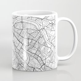 Dresden Map White Coffee Mug