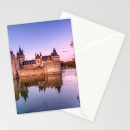 Sully sur Loire at sunrise, Loire valley, France. Stationery Cards