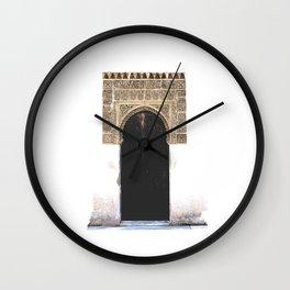 Rustic Alhambra Arch Door Wall Clock