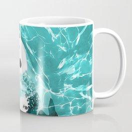 Playful Polar Bear In Turquoise Water Design Coffee Mug