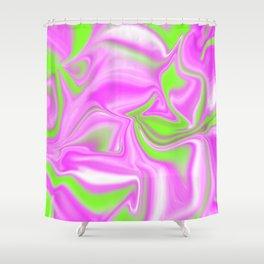 Neon Watermelon Trippy Tye Dye Shower Curtain