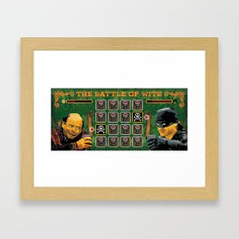 The Battle of Wits Framed Art Print