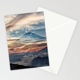 Surreal landscape art, colorful nature Stationery Cards