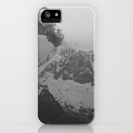 Volcano black and white iPhone Case