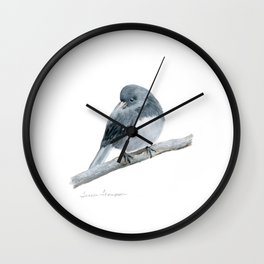 The Bashful Black-Eyed Junco by Teresa Thompson Wall Clock