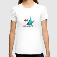 mercedes T-shirts featuring F1 2015 - #44 Hamilton [v2] by MS80 Design