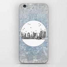 London, England (United Kingdom), Europe City Skyline Illustration Drawing iPhone & iPod Skin
