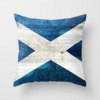 scotland Throw Pillows featuring Scotland by Arken25