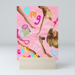 drunk barbie Mini Art Print