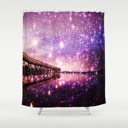 Enchanting Bridge Over Mystic Waters Shower Curtain