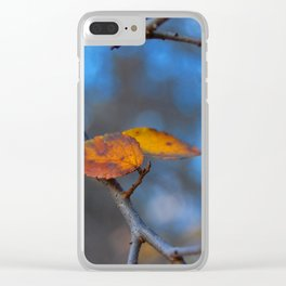 Last Leaves Clear iPhone Case