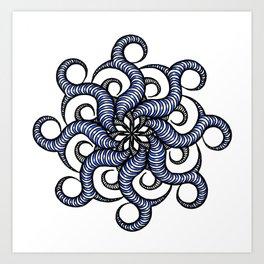 Reverse in blue Art Print