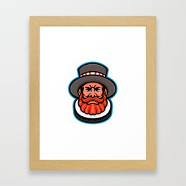 Beefeater or Yeoman Head Mascot Framed Art Print