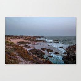 Mystic Blue Hour at the Ocean I Travel Photography Portugal I Art Prints Canvas Print