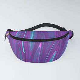 Pink, Purple, and Blue Waves 2 Fanny Pack
