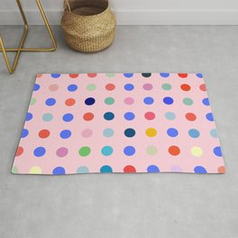 Pretty in Pink Dots Rug