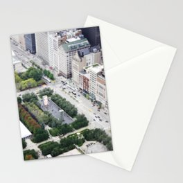 Crown Fountain Millennium Park Chicago Illinois Color Photo Stationery Cards