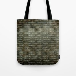 Binary Code with grungy textures Tote Bag