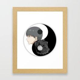 Kaneki 2 Side Framed Art Print