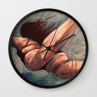 ursula Wall Clocks featuring Ursula by Gabby Grife | GuinArt