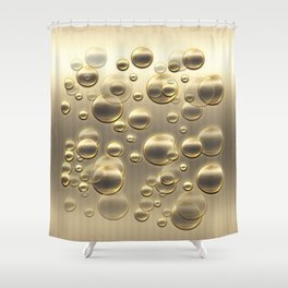 Gold Fall Bubbles Celebraton Shower Curtain
