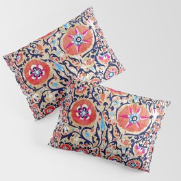 Shakhrisyabz Suzani Uzbek Embroidery Print Pillow Sham