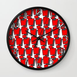 100 Exclamations Wall Clock